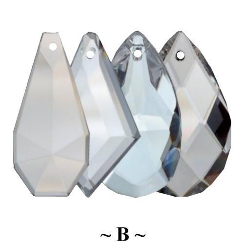 B - Handcut Crystal