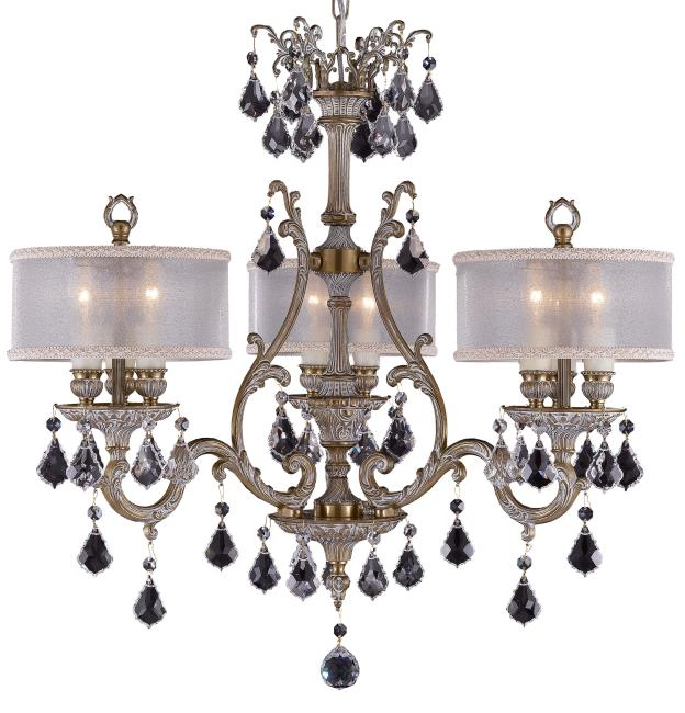 American Brass And Crystal Brass And Crystal Chandelier Fine Lighting