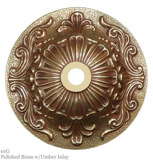 01G ~ Polished Brass w/Umber Inlay