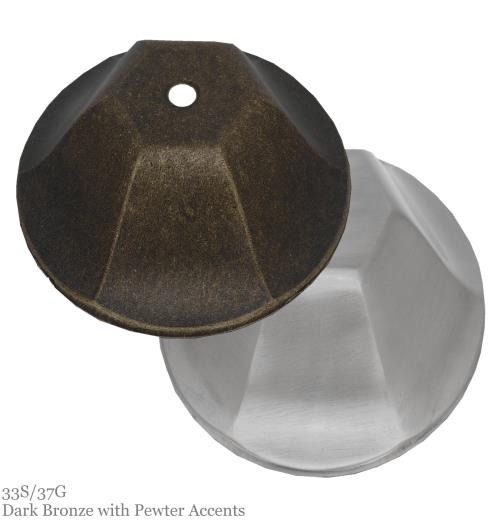 33S/37G Dark Bronze w/Pewter Accents